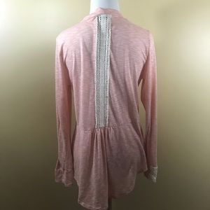Papermoon for Stitch Fix Peach Cardigan Small Lace